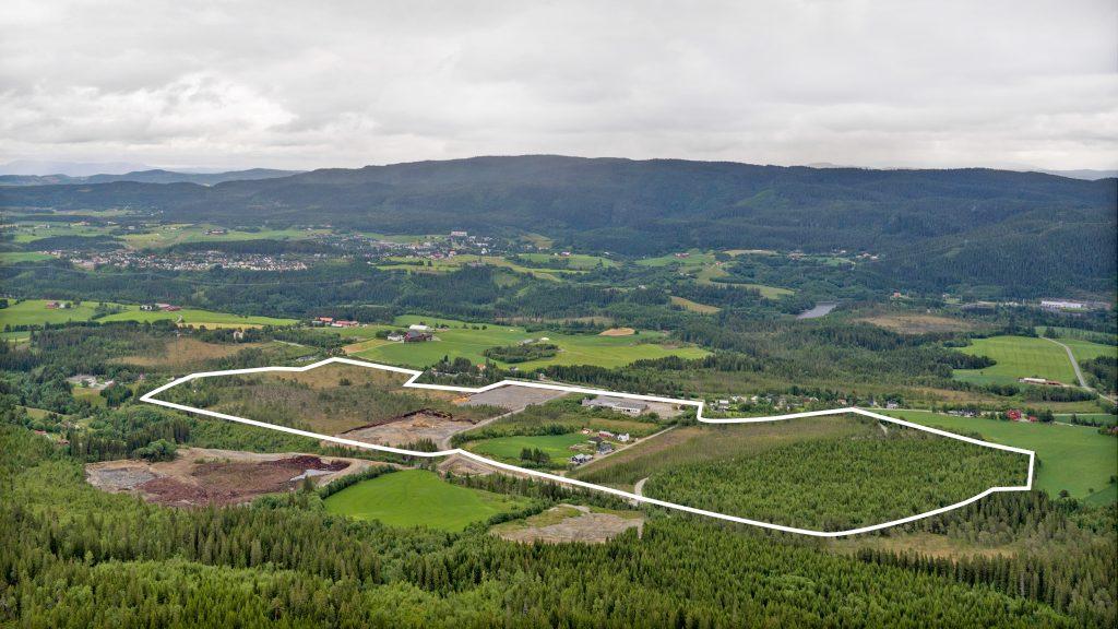 Området sett fra nordvest.